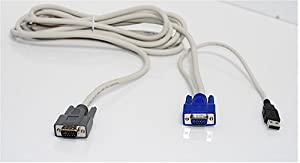 ConnectPRO SPA-10U 10FT USB Easy Connect KVM Cable for Use with SL2-116A Only