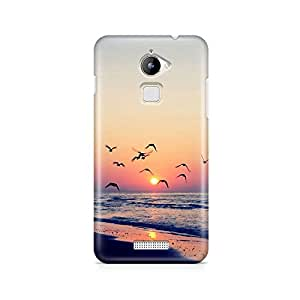 Motivatebox - Coolpad Note 3 Lite Back Cover - Sunset beach view Polycarbonate 3D Hard case protective back cover. Premium Quality designer Printed 3D Matte finish hard case back cover.