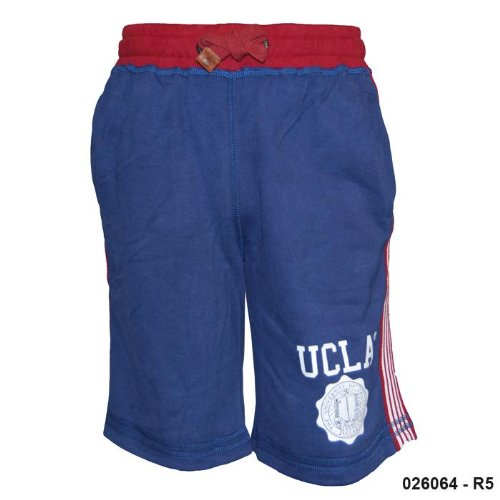 Mens UCLA Navy Cotton Sweat Pants Shorts R5 Size Large