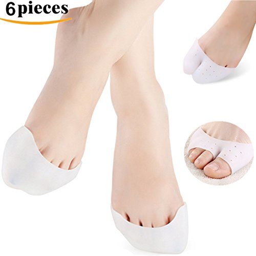 Kalevel 6pcs Toe Separators Silicone Toe Protector Ballet Dancer Fore Foot Cushion Pads (Silicone Finger Sleeve Protection compare prices)