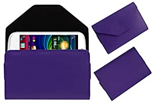 Acm Premium Pouch Case For Micromax Smarty 4.3 A65 Flip Flap Cover Holder Purple