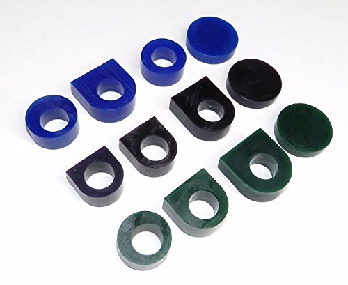 CARVING WAX RING TUBE ASSORTMENT 12 Pcs PRE-CUT TUBES & BLANKS 3 GRADES OF WAX (E 4) NOVELTOOLS (Wax For Ring Casting compare prices)