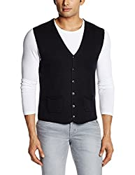 Replay Men's Natural Component Waistcoat (8059714128731_UK1304.000.G21280G_Large_Black)