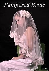 Lace Mantilla Bridal Wedding Veil 49x49 Ivory