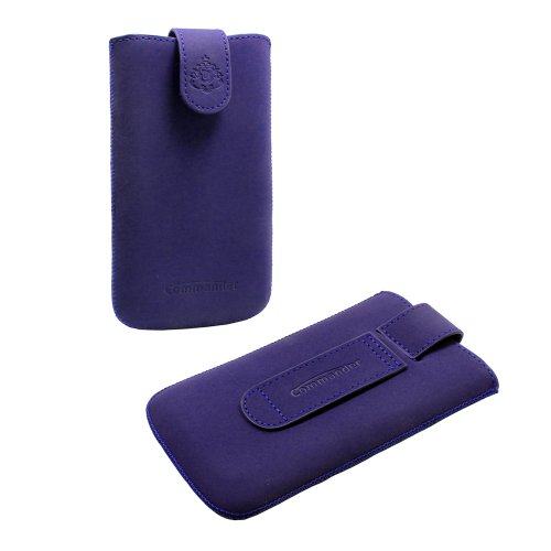 Handytasche Commander Elegance DeLuxe blau für simvalley Mobile SP-120