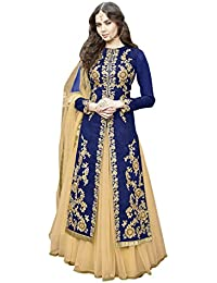 amazon in blue   dress material ethnic wear clothing