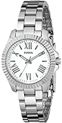 Fossil Women's AM4608 Cecile Small Three-Hand Stainless Steel Watch - Silver-Tone