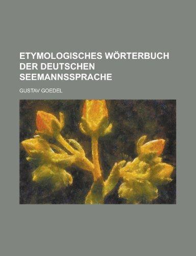 Etymologisches W Rterbuch Der Deutschen Seemannssprache