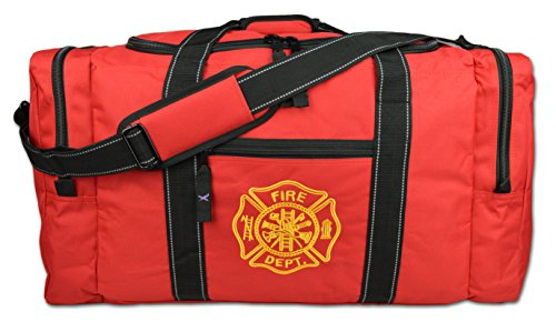 Lightning X Value Firefighter Turnout Gear Bag w/ Maltese Cross - Red (Ems Turnout Gear compare prices)