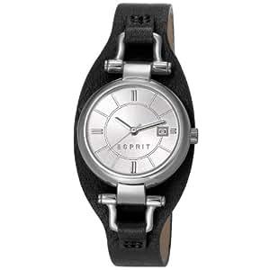 Esprit - ES106782001 - Montre Femme - Quartz Analogique - Bracelet Cuir Noir