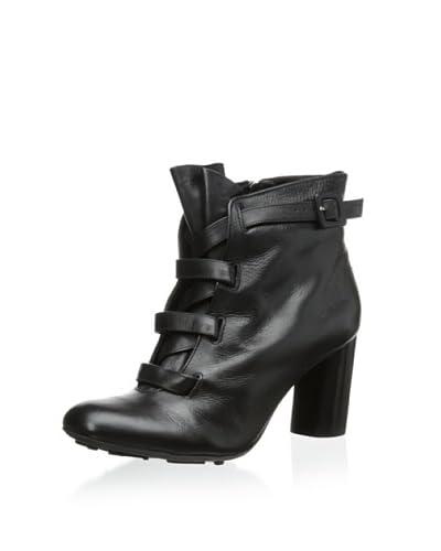 Klub Nico Women's Bennett Wide Laced Ankle Bootie  [Black]