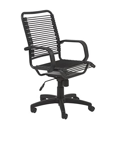 Euro Style Bradley-High Back Bungie Office Chair, Black