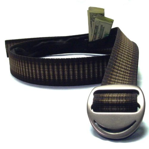 Bison Designs Crescent Money 38mm USA Made Gunmetal Buckle Travel Belt, Cappuccino, Medium/38-Inch (Bison Money Belt compare prices)