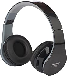 Sonilex Wireless Bluetooth Headphone Foldable Headset With FM Radio and Micro SD Card Slot / Deep Bass Stereo Dynamic Surround Sound