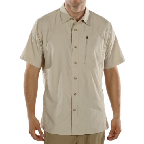 ExOfficio Men's Geotrek'R Short Sleeve Shirt,Bone,Large