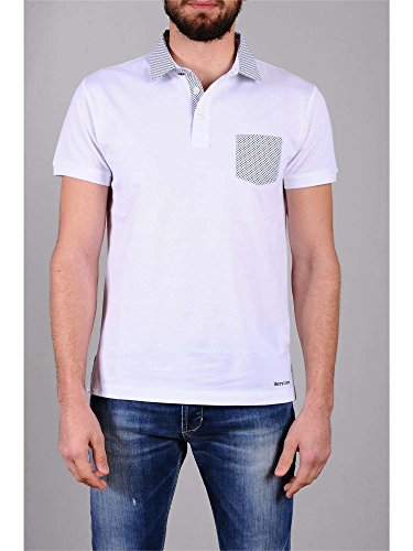 HENRY COTTON'S 8325250 84498 WHITE POLO Uomo WHITE S