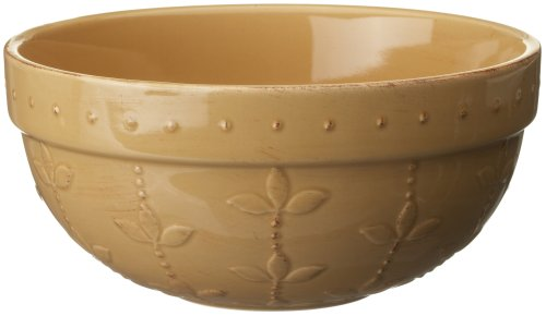 Signature Housewares Sorrento Collection 90-Ounce Medium Mixing Bowl, Gold Antiqued Finish front-629135