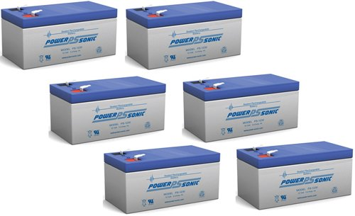Upg Ub1234 12V 3.4Ah Sealed Lead Acid Battery F1 Tt - 6 Pack