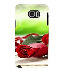 PrintVisa Rose Design 3D Hard Polycarbonate Designer Back Case Cover for Samsung Galaxy Note 5