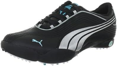 Puma Sunny 2 Wns 185838, Damen Sportschuhe - Golf, Schwarz (black-puma silver-blue ra 4), EU 38 (UK 5) (US 7.5)