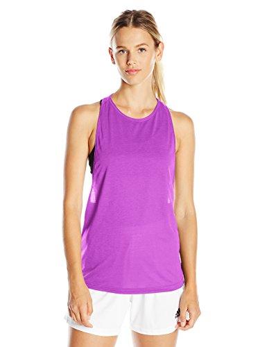adidas Women's Performer Tank Top, Small, Shock Purple