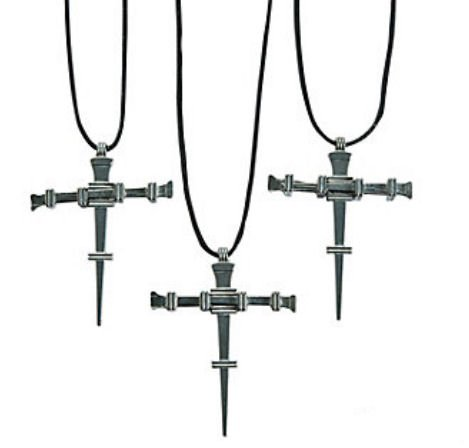 Nail Cross Necklaces : package of 12