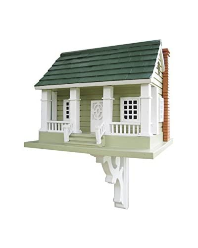 Home Bazaar Arts and Crafts Birdhouse, Grey/Green