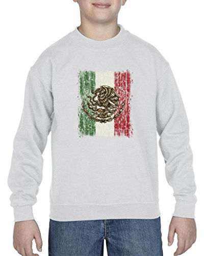 [Artix Mexican Flag Distress Cinco de Mayo Mexican Poncho Mexico Couples Gifts Unisex Youth Kids Crewneck Sweater Clothing X-Large Sport Grey] (Best Friend Halloween Costumes Yahoo)
