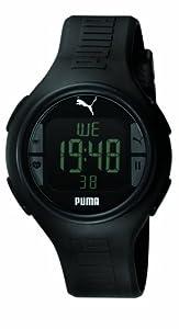 PUMA Men's PU910541001 Pulse Black Heart Rate Monitor Watch by PUMA