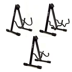 Boston Folding A-Frame Metal Guitar Stand for Electric/Acoustic Guitars/Bass