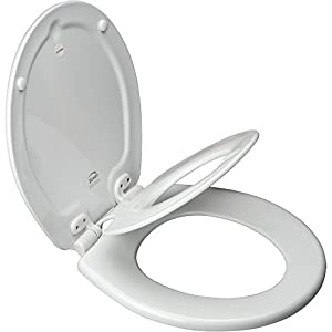 Bemis 1583SLOW Elongated NextStep Toilet Seat, White