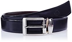 Covo Black and Tan Leather Men's Formal Belt (AXB04-38)