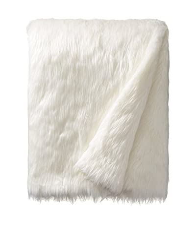 Tourance Faux Fur Throw, Cream