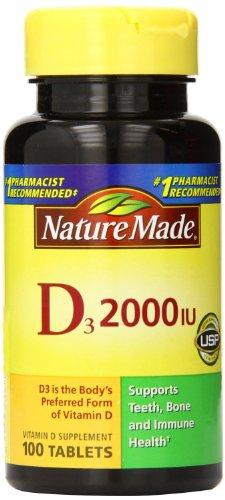 Nature Made Vitamin D3, 2000 Iu, 100 Ct (Pack Of 2)