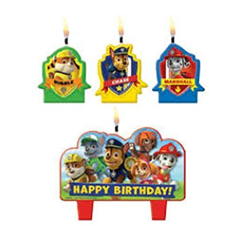 Paw Patrol Mini Candle Set (4pc) - 1