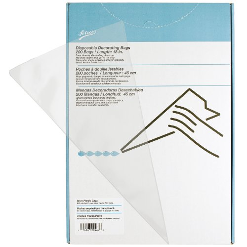 Ateco 18 Inch Clear Disposable Bags, 200 Count