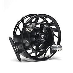 New Hatch 9 Plus Finatic Fly Fishing Reel Black Silver by Winston