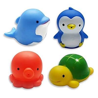 Clearance Sale-MICHLEY Baby Bath Toys Sea Animal Water Squirter Toy Environmental Protection Material Bathtub Toys - Set of 4 by MICHLEY that we recomend individually.