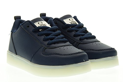 WIZE & OPE junior sneakers basse LED EARTH MADE BLU 34 Blu