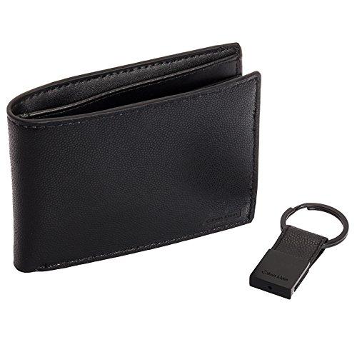 Calvin Klein Stingray Embossed Leather Bifold Wallet & Key Fob Gift Set