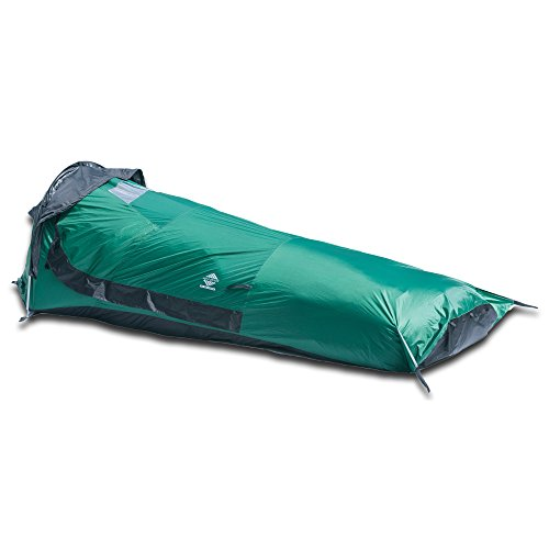 Aqua Quest Hooped Bivy Tent - One Person Single Pole Waterproof Shelter - Ultralight, Compact, Fast Easy Setup, Comfortable - Green (Quest 6 Person Instant Tent compare prices)