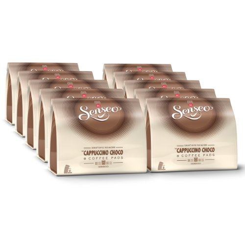 Purchase Senseo Cappuccino Choco, Design, Pack of 10, 10 x 8 Coffee Pods - Douwe Egberts
