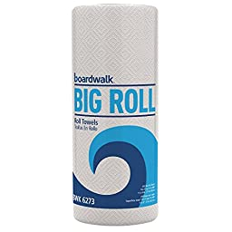Boardwalk 6273 Perforated Roll Towels, White, 11 x 8 1/2, 2-Ply, 250 Sheets/Roll (Case of 12)