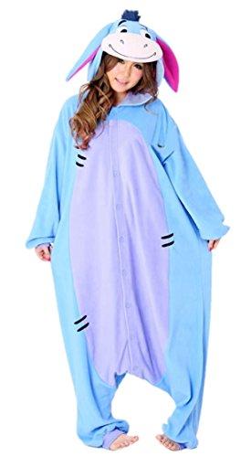 Sleepsuit Kigurumi Pajamas Costume Animal Cosplay Homewear Lounge Wear (M, Eeyore Donkey)