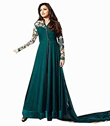 Charming Rama Georgette Plain Anarkali Suit with Heavy Nack and Sleeves
