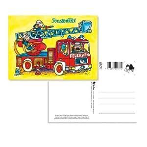 Sticker Geschenk Bild Karte Feuerwehr by Mauder Verlag: Toys & Games