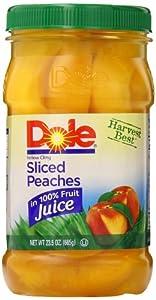 Dole Sliced Peaches, 23.5 Ounce Jars (Pack of 8)