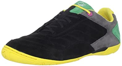 Pelé Sports Men's Radium Social Soccer Shoe,Black/Aspen Gold/Amazon,7 M US