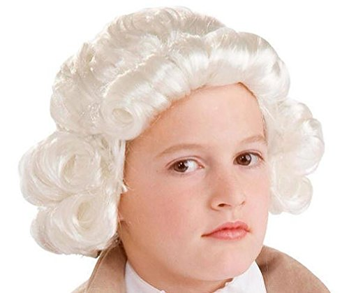 [Popcandy Historical White Colonial Boy Child Wig] (Boy George 80s Costume)
