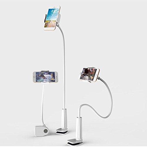 GBOAT-Bolt-Clamp-mit-Halterung-iPad-Halterung-Desktop-Stnder-Schwanenhals-Halter-Flexibel-Winkel-verstellbar-HandyTablets-halterung-360--Drehen-fr-4-11-Inch-Android-und-Apple-DeviceVerlngerte-65cm